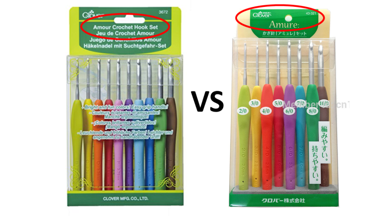 Japan Crochet Hooks Comparison Clover Amouramure Vs Clover Soft